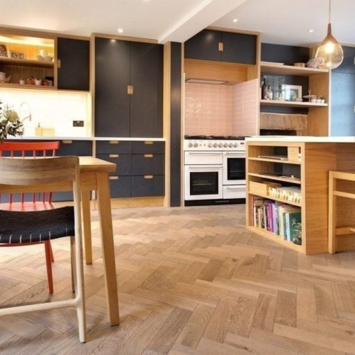 V4 Frozen Umber Engineered Oak Parquet Flooring, Rustic, Stained, Brushed & Hardwax Oiled, 90x15x360 mm Image 4