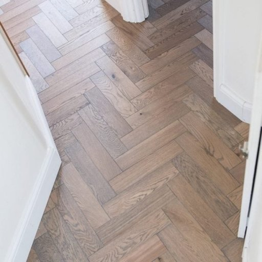 V4 Frozen Umber Engineered Oak Parquet Flooring, Rustic, Stained, Brushed & Hardwax Oiled, 90x15x360 mm Image 5