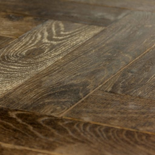 V4 Foundry Steel Engineered Oak Parquet Flooring, Rustic, Distressed, Stained, Handfinished & UV Oiled, 90x15x360 mm Image 3