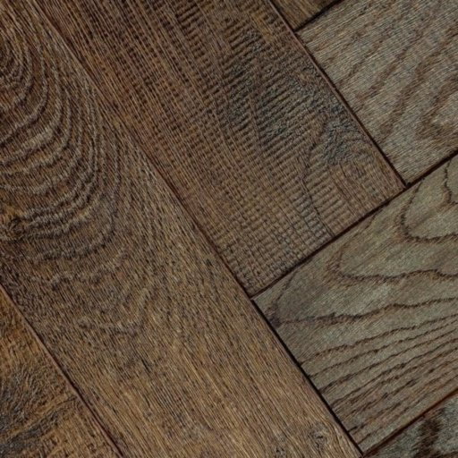 V4 Foundry Steel Engineered Oak Parquet Flooring, Rustic, Distressed, Stained, Handfinished & UV Oiled, 90x15x360 mm Image 4