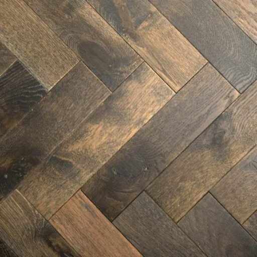 V4 Foundry Steel Engineered Oak Parquet Flooring, Rustic, Distressed, Stained, Handfinished & UV Oiled, 90x15x360 mm Image 5