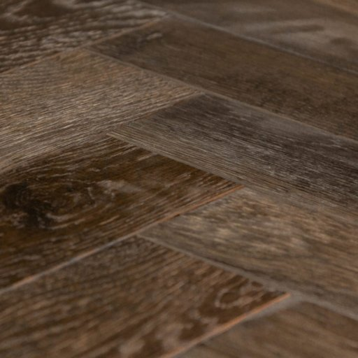 V4 Tannery Brown Engineered Oak Parquet Flooring, Rustic, Distressed, Stained, Handfinished & UV Oiled, 90x15x360 mm Image 2