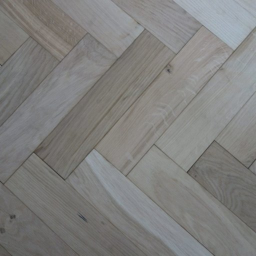 V4 Unfinished Engineered Oak Parquet Flooring, Smooth Sanded, Rustic, 90x15x360 mm Image 2