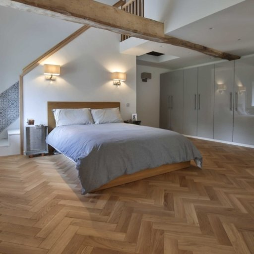 V4 Natural Engineered Oak Parquet Flooring, Rustic, Smooth Sanded & Hardwax Oiled, 90x15x360 mm Image 2