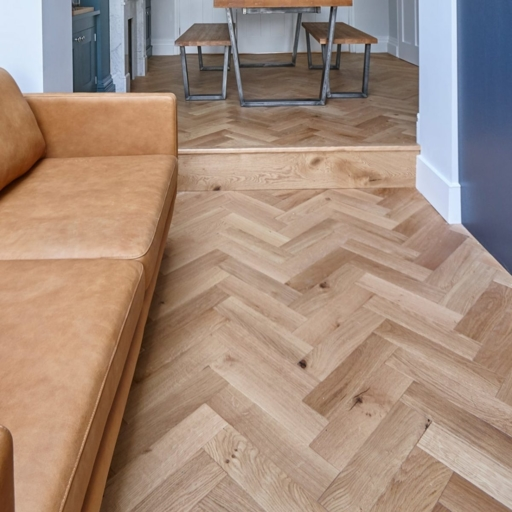 V4 Engineered Oak Parquet Flooring, Rustic, Brushed & Matt Lacquered, 90x15x360 mm Image 3