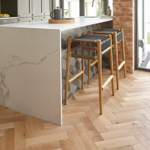 V4 Engineered Oak Parquet Flooring, Rustic, Brushed & Matt Lacquered, 90x15x360 mm Image 4