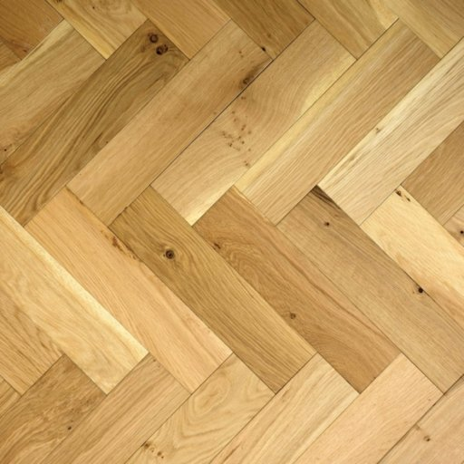 V4 Engineered Oak Parquet Flooring, Rustic, Brushed & Matt Lacquered, 90x15x360 mm Image 5