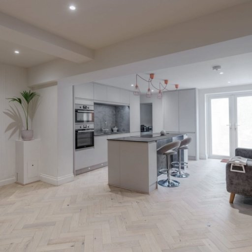 V4 White Island Sand Engineered Oak Parquet Flooring, Rustic, Stained, Brushed & Matt Lacquered, 90x15x360 mm Image 2