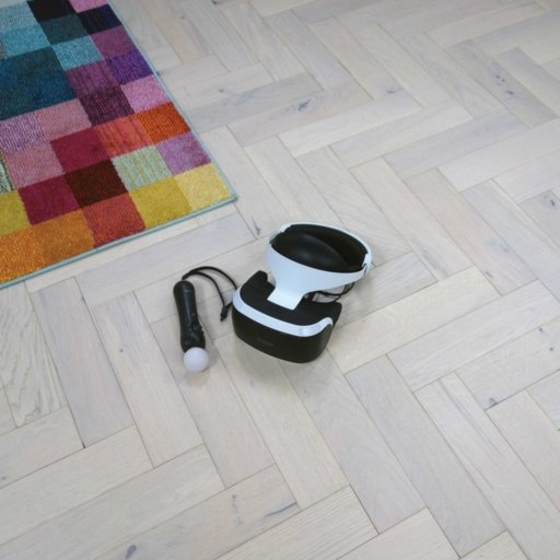 V4 White Island Sand Engineered Oak Parquet Flooring, Rustic, Stained, Brushed & Matt Lacquered, 90x15x360 mm Image 4