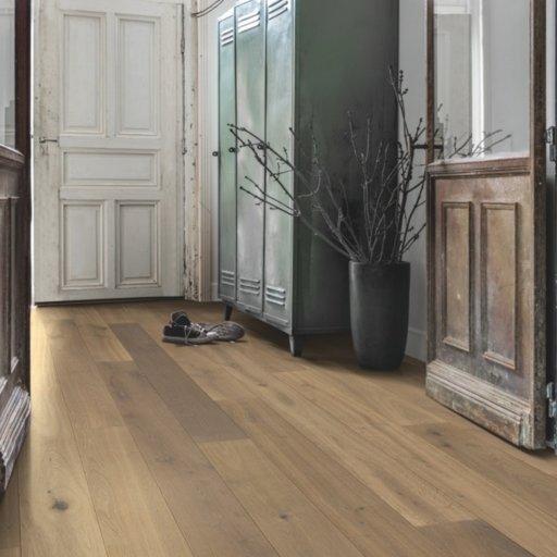 Quickstep Compact Nutmeg Oak Engineered Flooring, Oiled, 145x2.5x12.5 mm Image 1