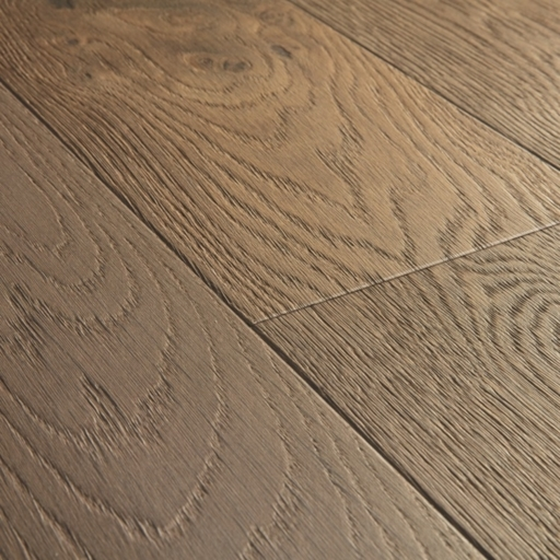 Quickstep Compact Nutmeg Oak Engineered Flooring, Oiled, 145x2.5x12.5 mm Image 2