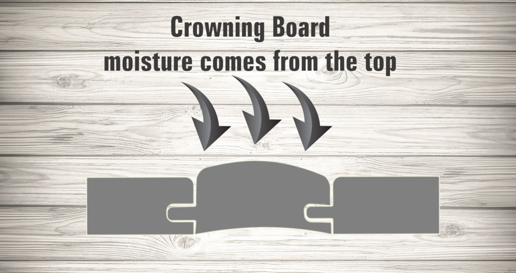 crowning boards water damage