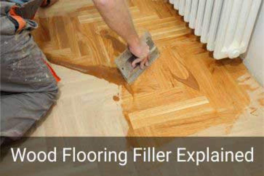 How to use wood floor fillers