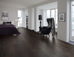Junckers Black Oak Solid Wood Flooring, Untreated, Harmony, 140x20.5 mm