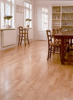 Junckers Light Ash Solid 2-Strip Wood Flooring, Oiled, Harmony, 129x22 mm