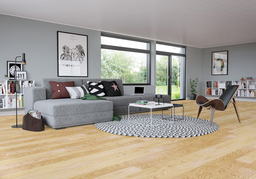 Junckers Light Ash Solid Wood Flooring, Untreated, Classic, 140x20.5 mm