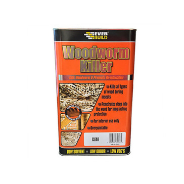 Everbuild Woodworm Killer, Clear, 5L
