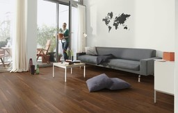 Boen Andante Walnut American Engineered 3-Strip Flooring, Matt Lacquered, 215x3x14 mm