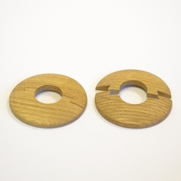 Solid Oak Pipe Surrounds (Pipe Ferrule) Lacquered, 16 mm, Pair