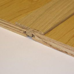 Solid Oak T-Shaped Threshold, Lacquered, 90 cm