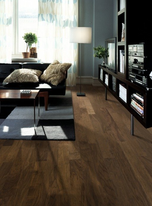 Kahrs Orchard Walnut Engineered Wood Flooring, Lacquered, 125x1.5x10 mm