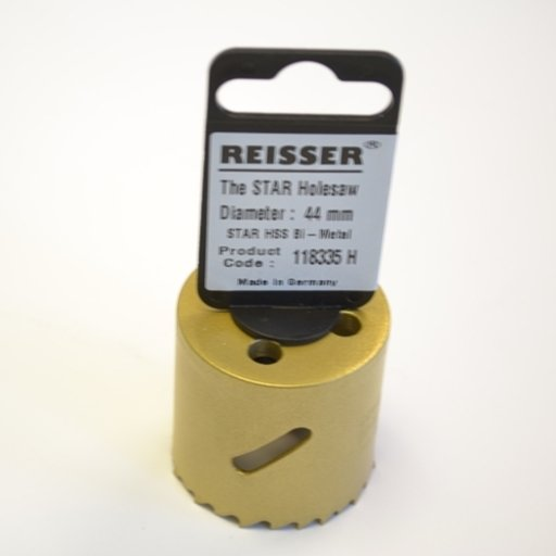 Reisser HSS Bi-Metal Holesaw, 44 mm