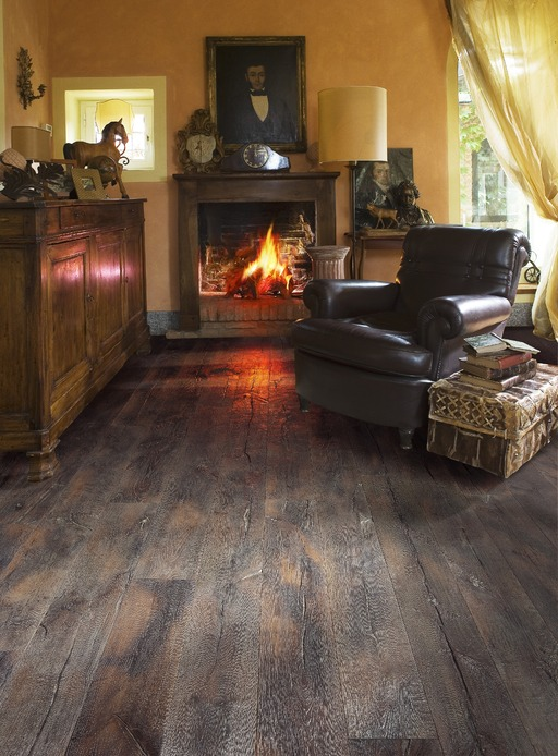 Kahrs Vecchio Oak Engineered Wood Flooring, Smoked, Oiled, 190x3.5x15 mm