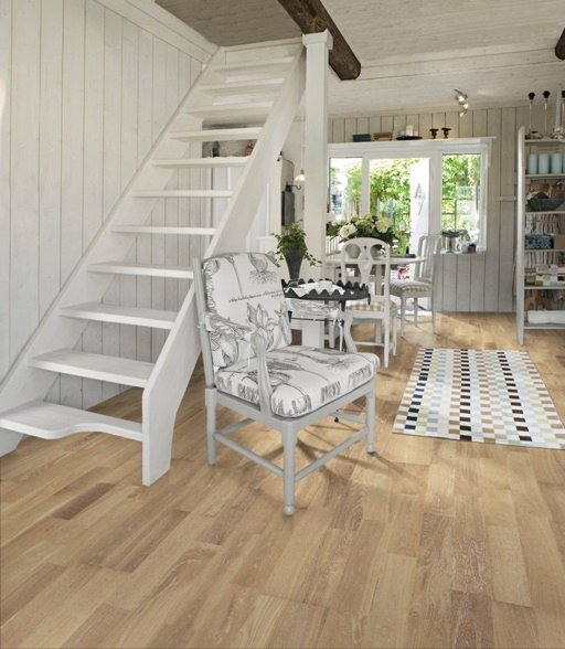 Kahrs Cirrus Oak Engineered Wood Flooring, Lacquered, 200x3.5x15 mm