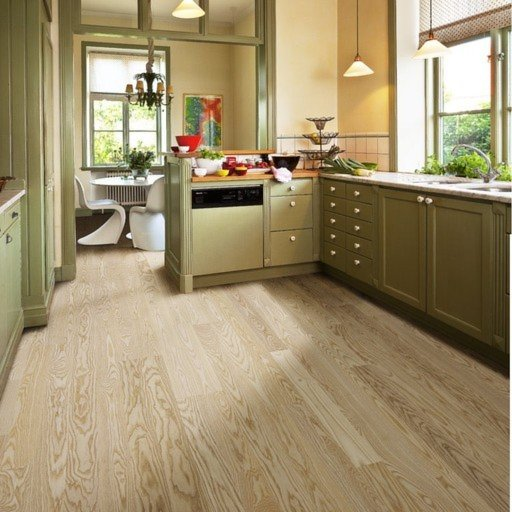 Kahrs Falsterbo Ash Engineered 2-Strip Wood Flooring, White, Matt Lacquered, 200x3.5x15 mm