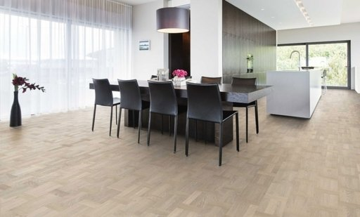 Kahrs Palazzo Bianco Oak Engineered Wood Flooring, Lacquered, 198.5x3.5x15 mm