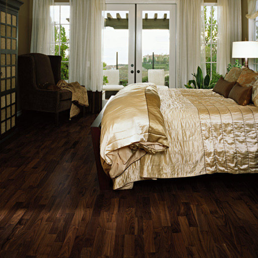Kahrs Montreal Walnut Engineered 3-Strip Wood Flooring, Lacquered, 200x3.5x15 mm