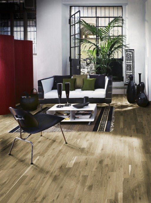 Kahrs Stone Oak Engineered Wood Flooring, Smoked, Oiled, 200x3.5x15 mm
