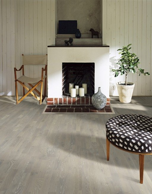 Kahrs Limestone Oak Engineered Wood Flooring, Lacquered, 200x3.5x15 mm