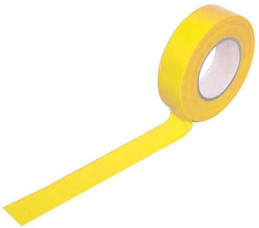 Insulation Tape, Yellow, 19 mm, 33 m