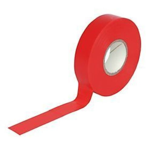 Insulation Tape, Red, 19 mm, 33 m