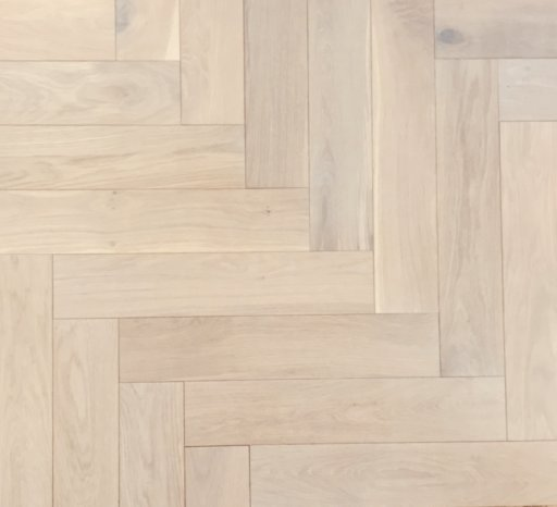 Tradition Classics Herringbone Engineered Oak Flooring, Rustic, White Oiled, 120x15.4x600 mm