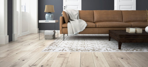 Spectra Smoked Oak Engineered Flooring, Whitewashed, Brushed, Oiled, Rustic, 189x3x14 mm