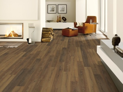 Canadia Tuscan Oak 4V Plank Laminate Flooring, 11 mm