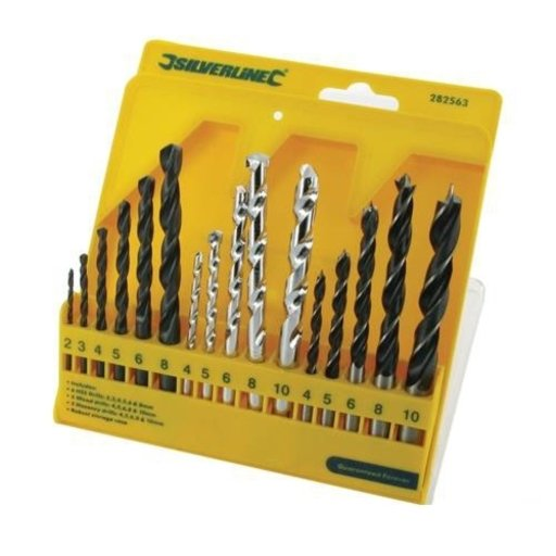Sillverline Combi Drill Bit Set (16 pcs), 4-10 mm