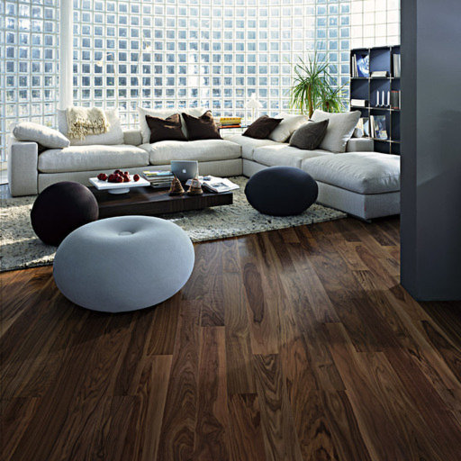 Kahrs Cocoa Walnut Engineered Wood Flooring, Lacquered, 118x0.5x7 mm