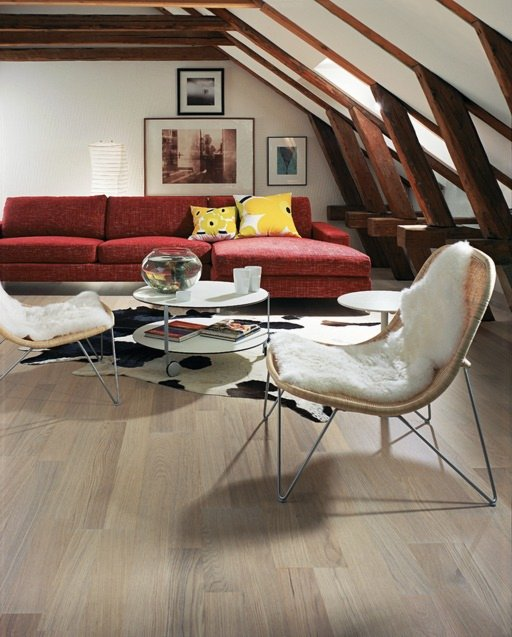 Kahrs Tide Oak Engineered Wood Flooring, Stained, Matt Lacquered, 193x0.5x7 mm