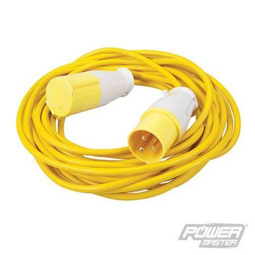 Extension Lead 16 A, 110V, 10 m, 3 pin, Yellow