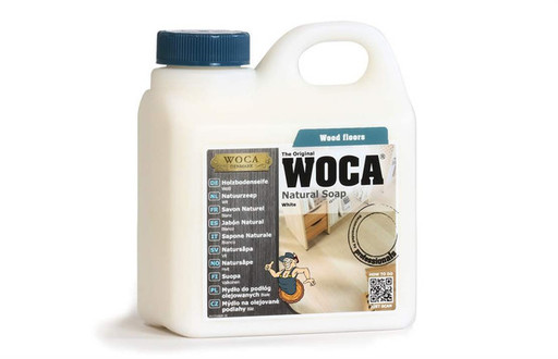 WOCA Natural Soap For Oiled Wood Floor, White, 1L