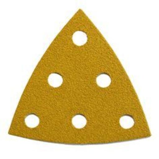 Starcke 100G Sanding Triangles, 88 x 93 mm, 6 Holes Round, Velcro
