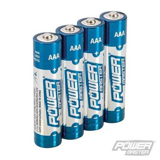 Powermaster AAA Super Alkaline Battery LR03 4pk