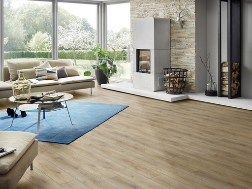 Canadia Prestige Charleston Oak 4V Laminate Flooring, 12 mm