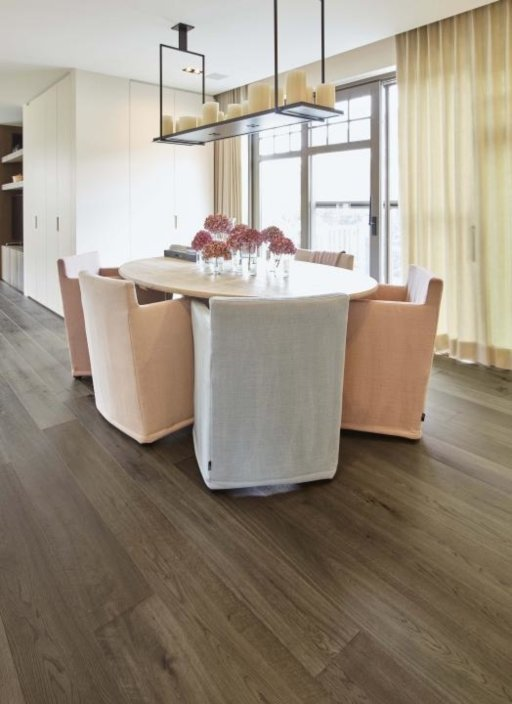 Tradition Classics Vougeot Engineered Oak Flooring, Deep Smoked, Brushed, UV Grey Oiled, 186x15x1860 mm