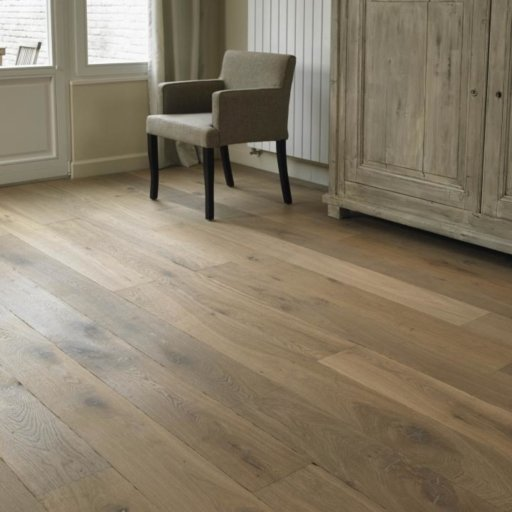 Tradition Classics Lorraine Engineered Oak Flooring, Smoked, Distressed, White Oiled, 15x189x1900 mm
