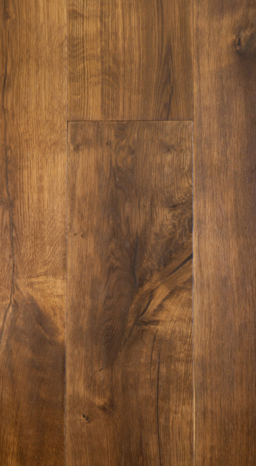 Tradition Classics Gevrey Antique Engineered Oak Flooring, Smoked, Brushed, Oiled, 14x190x1900 mm
