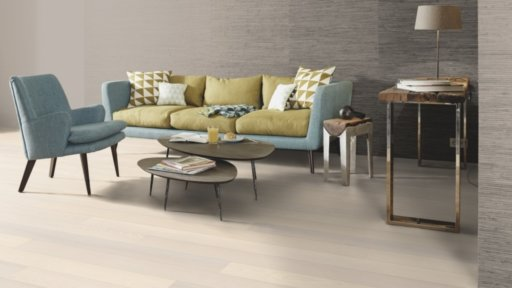 Boen Andante Ash Engineered Flooring, White Stained, Live Pure Lacquered, 138x3.5x14 mm